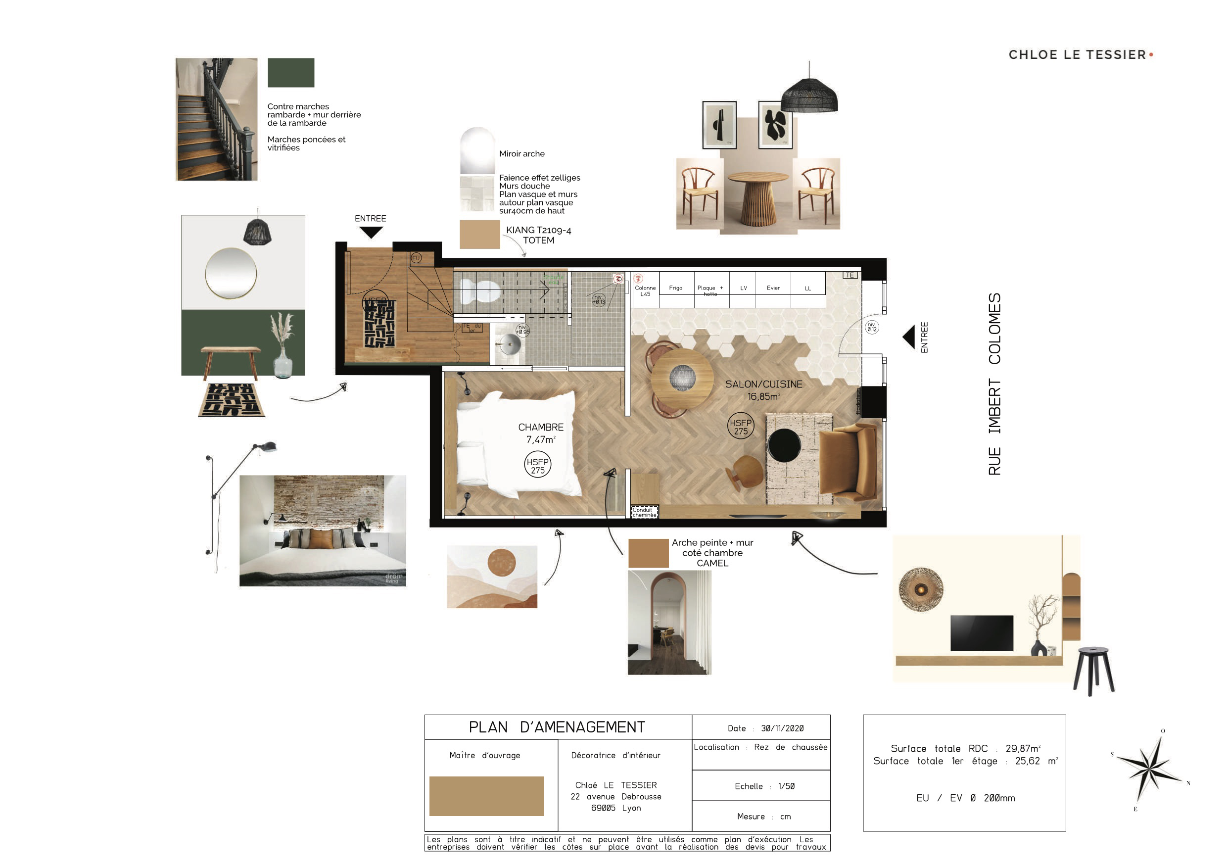 Plan d'amenagement renovation airbnb