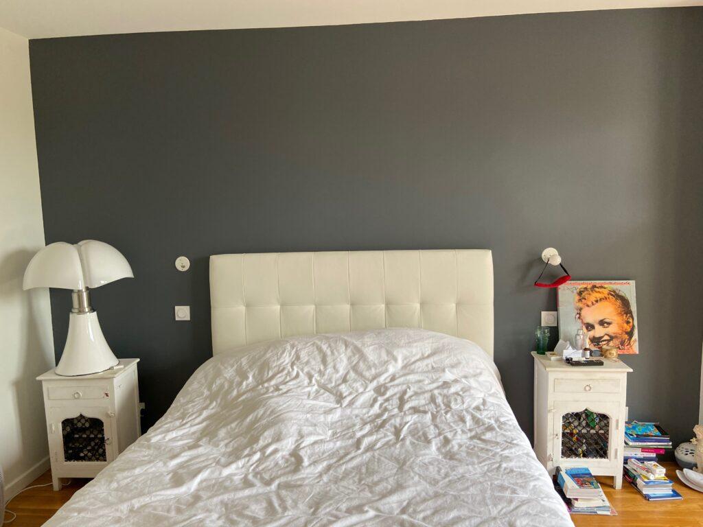 Chambre à coucher appartement Lyon